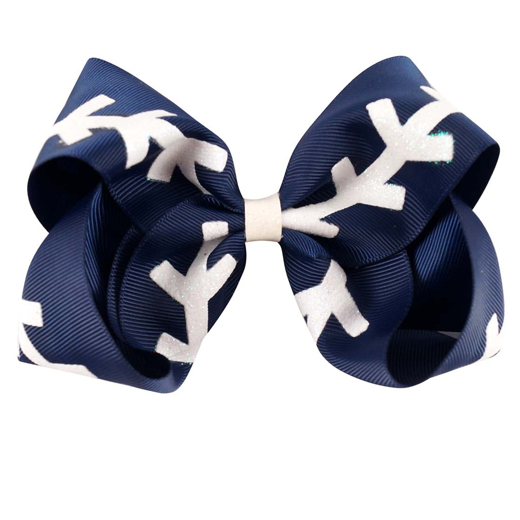 Glitter Softball Hair Bows | Baseball Hair Clips for Kids