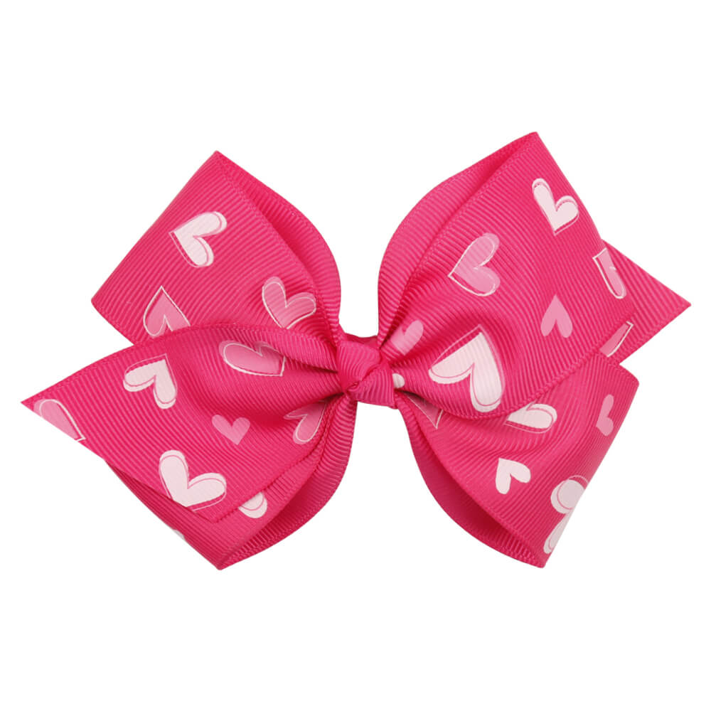 Valentine's Day Hair Bow Clips