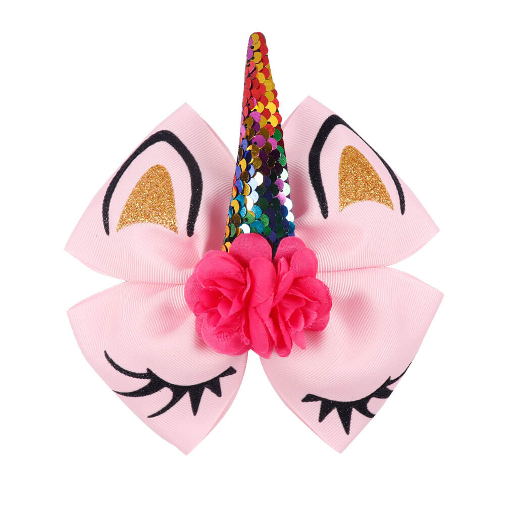 Unicorn Cute Hair Bows