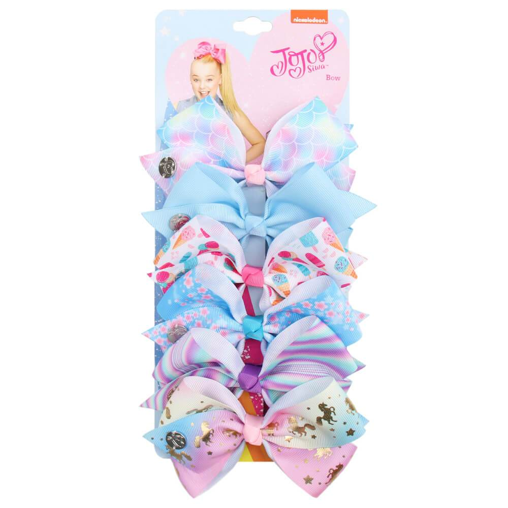 Rainbow Printed Jojo Mini Bows Set - 21 Style Available