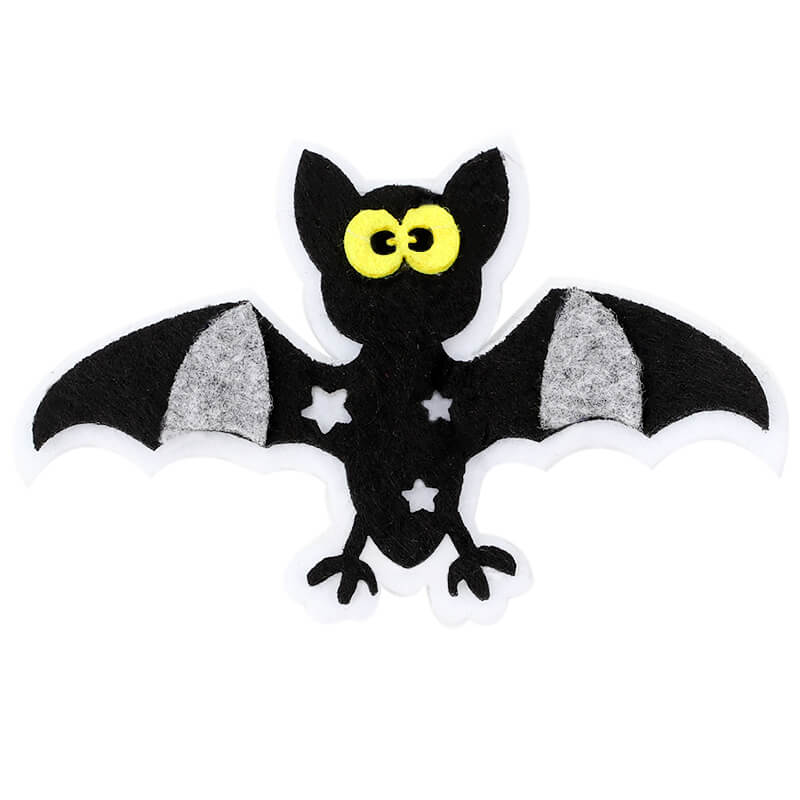 Felt Bat Glitter Pumpkin Hair Clips