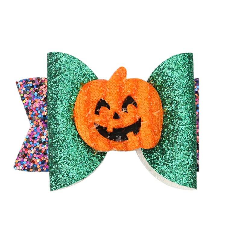 cute pumpkin hair clips