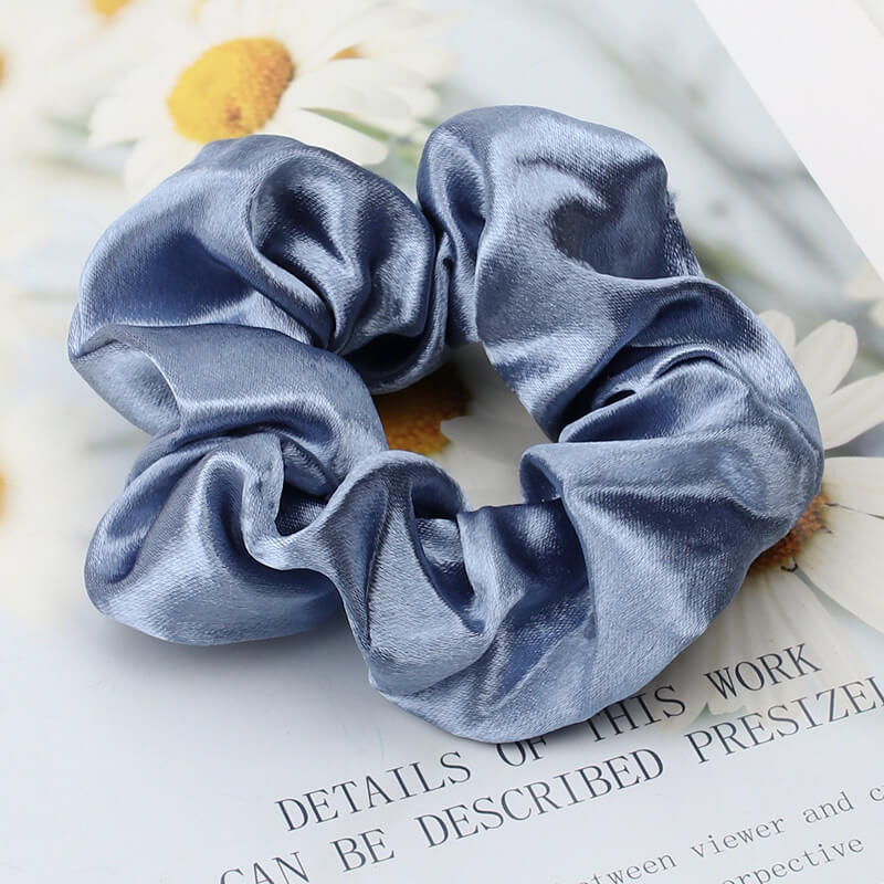 Bright Color Silk Scrunchies