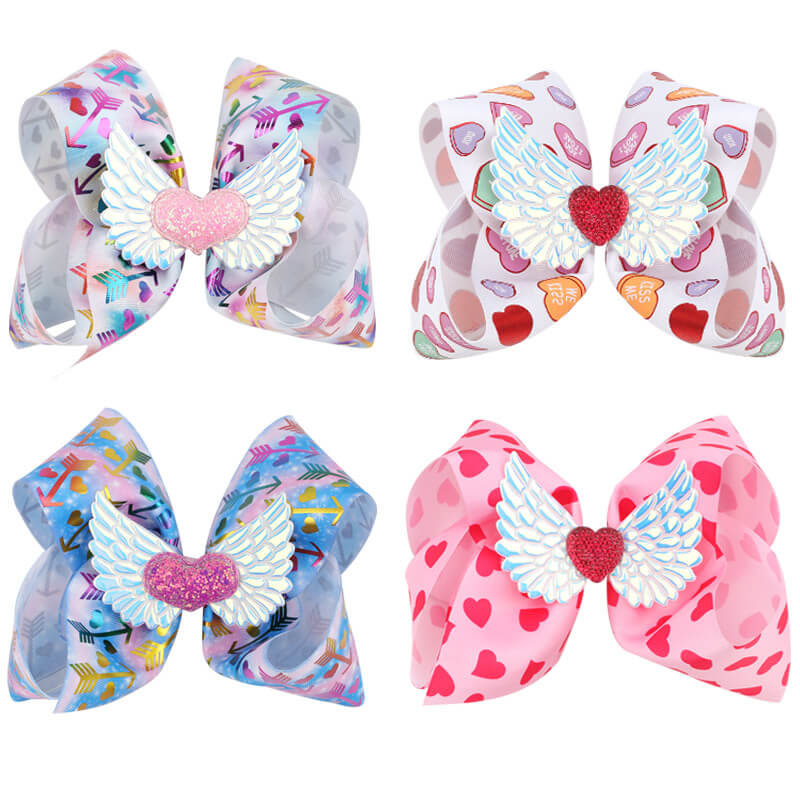 pretty hair bow clips