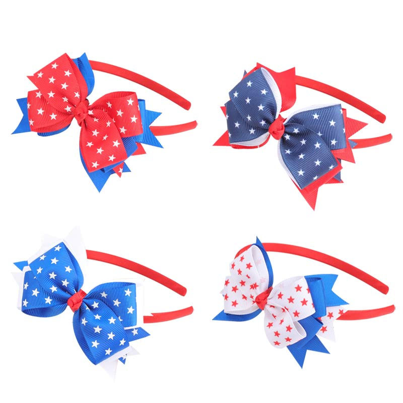 4th of July American Flag Hair Bands