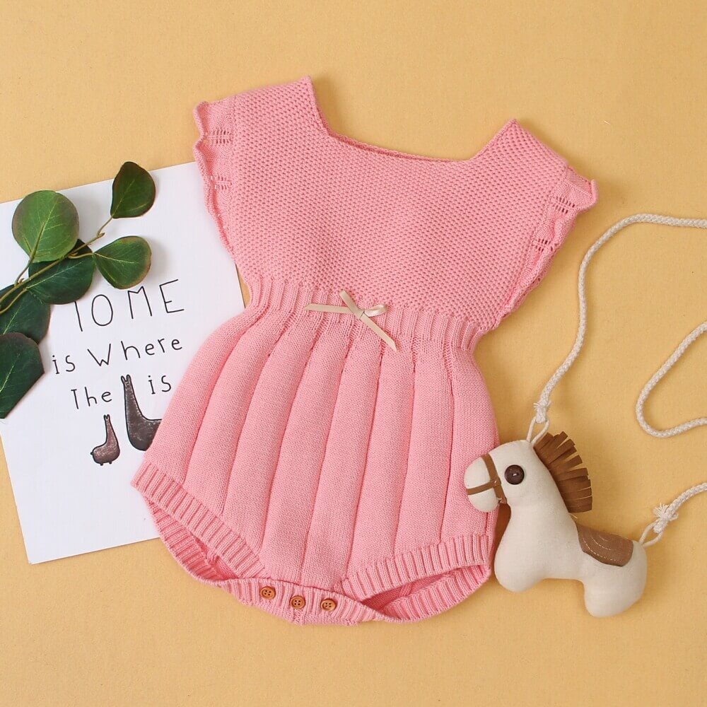 cotton knitted romper
