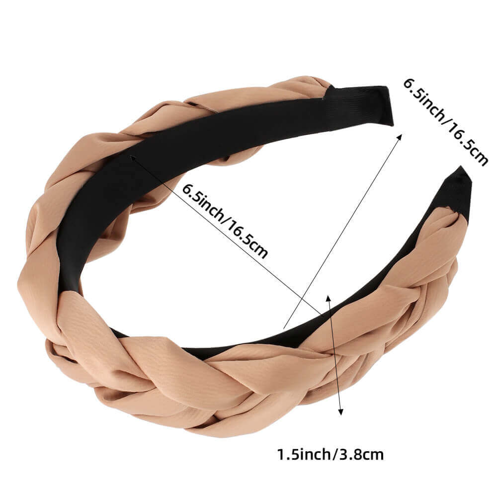 Solid Color Braided Women Headbands