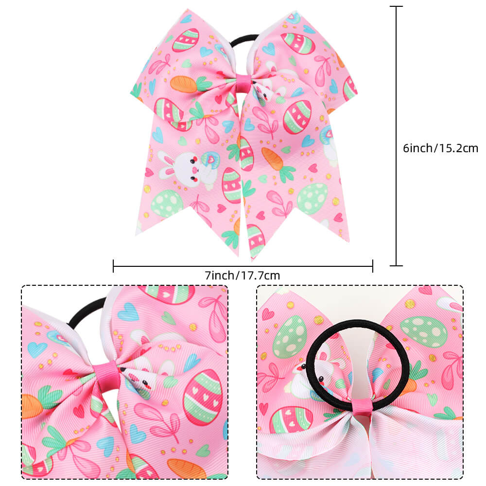 7'' Easter Rabbit Cheer Bows