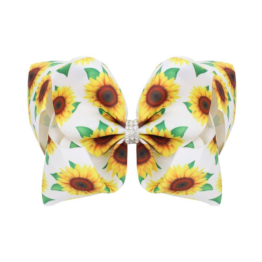 sunflower hair bows