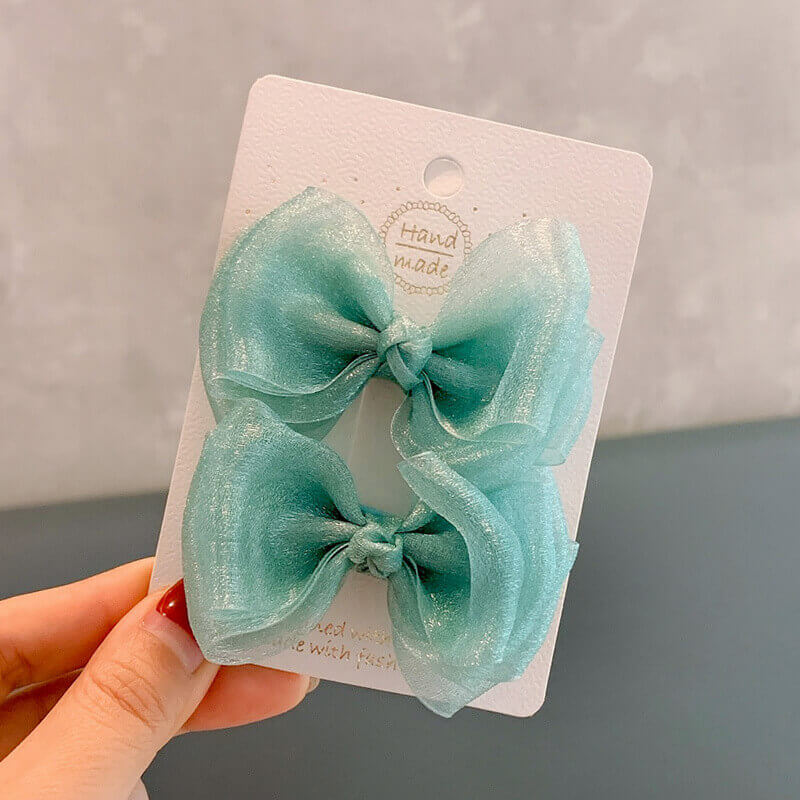 2PCS Organza Hair Bows