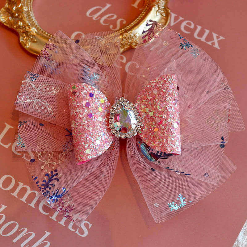 Tulle Hair Bows for Girls
