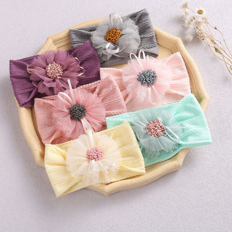 Tulle Flower Baby Headbands
