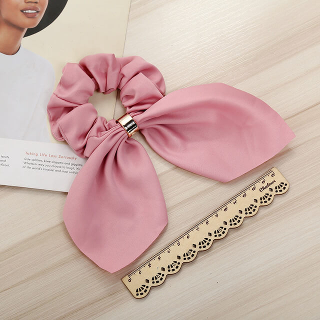 Bow Silk Scrunchies for Girls