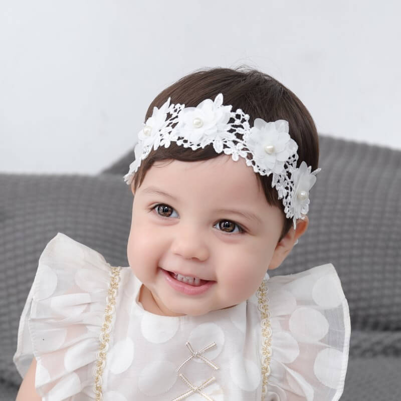 Lace Flower Baby Headbands