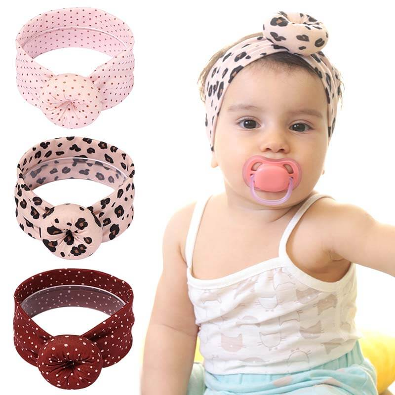 Newborn Leopard Nylon Headband