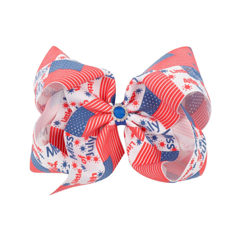4th of July Soft Leather Hair Bows