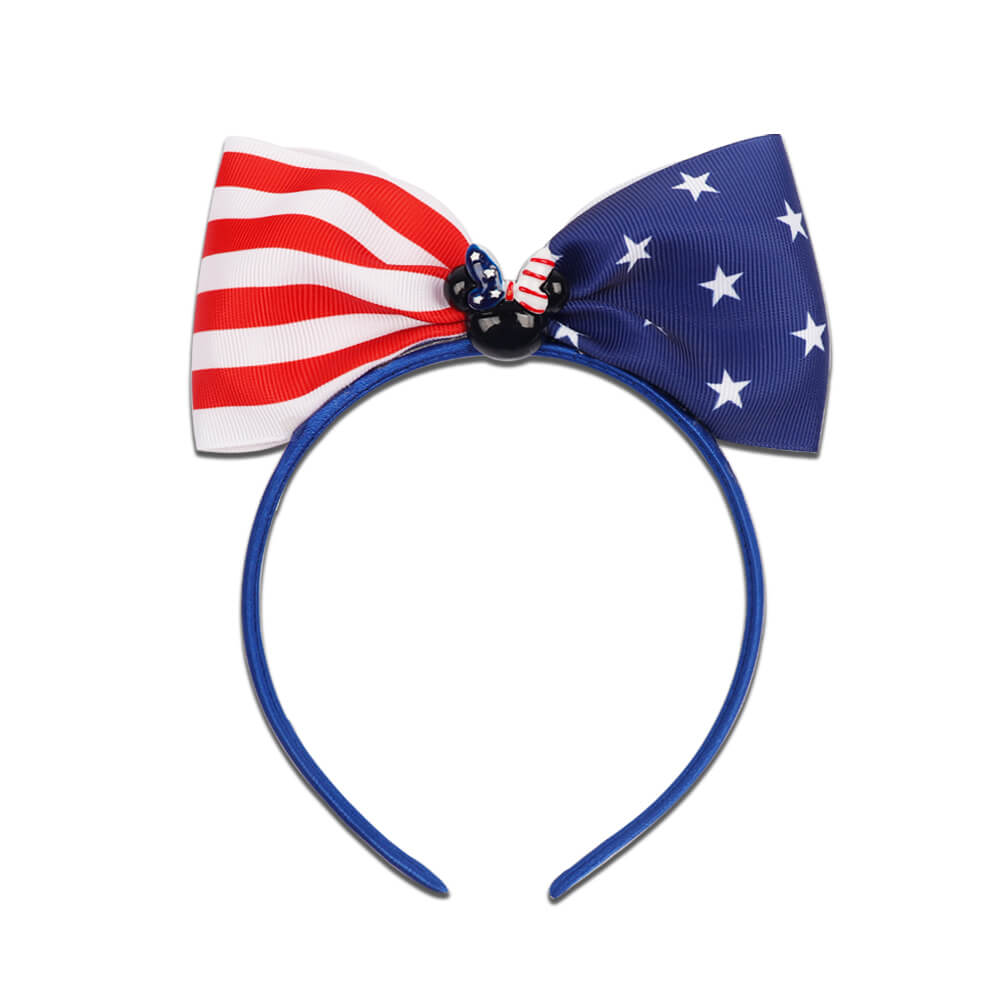 American Flag Bow Headbands