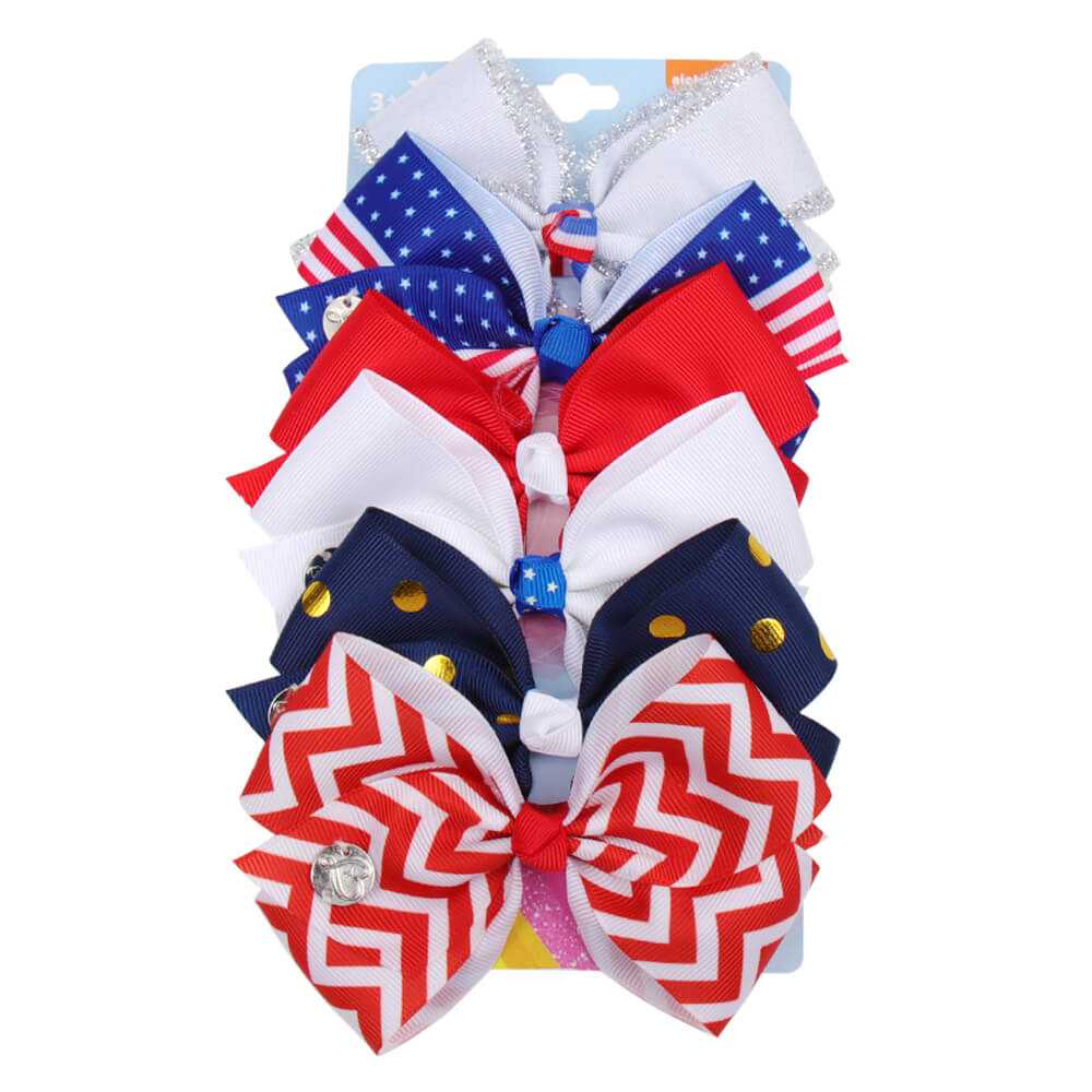4th of July Cute Jojo Hair Bows Set