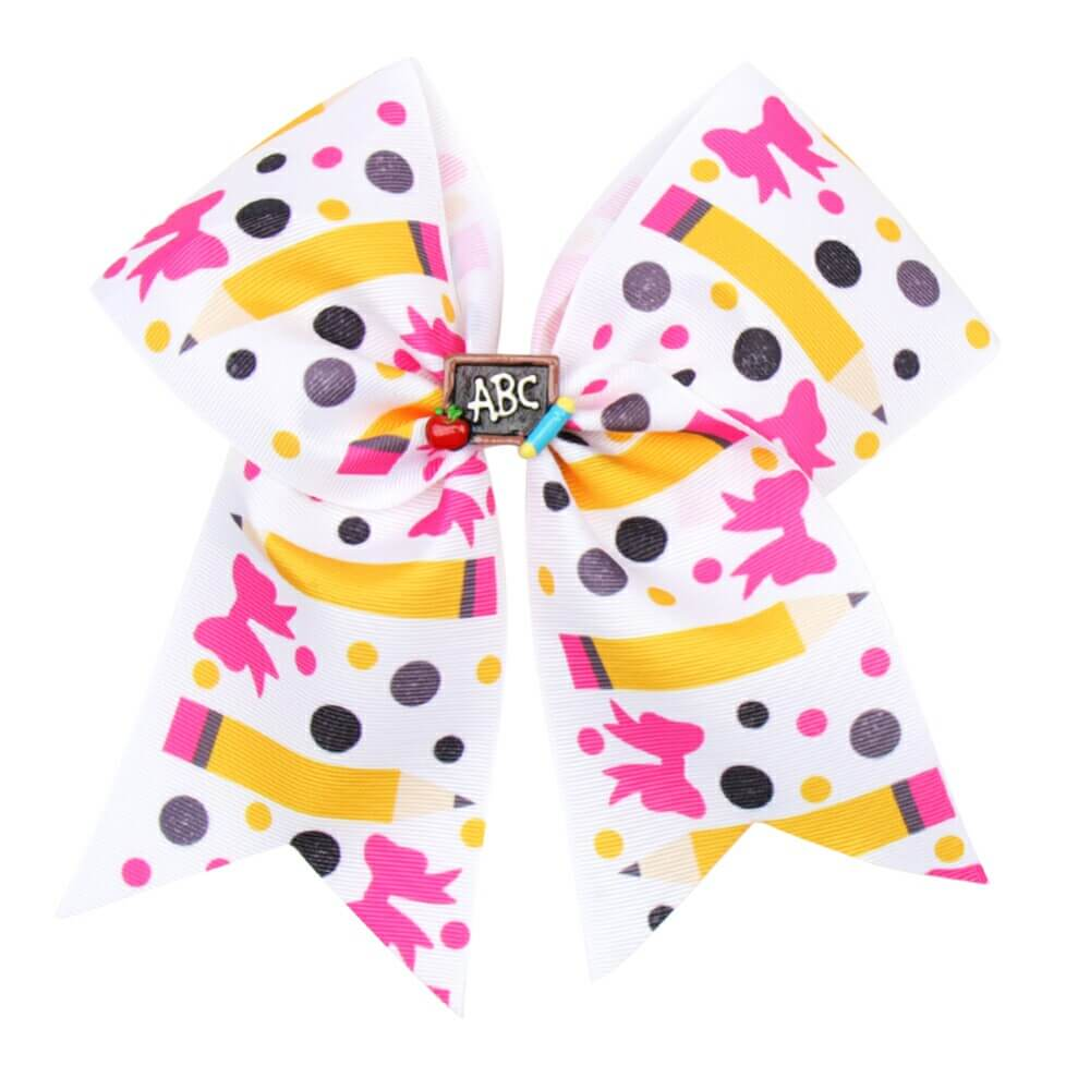 BACK TO SCHOOL Cheer Bow with Hair Clips