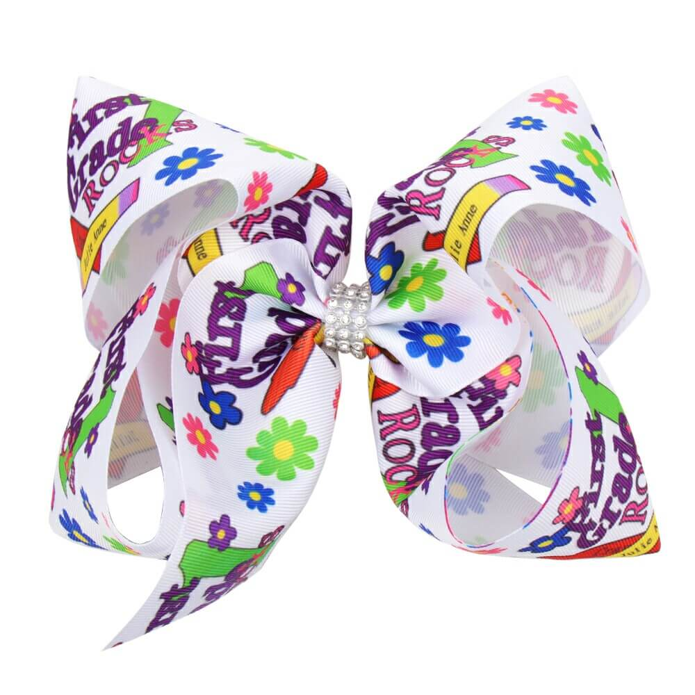 Back To School Large Hair Bows for Girls