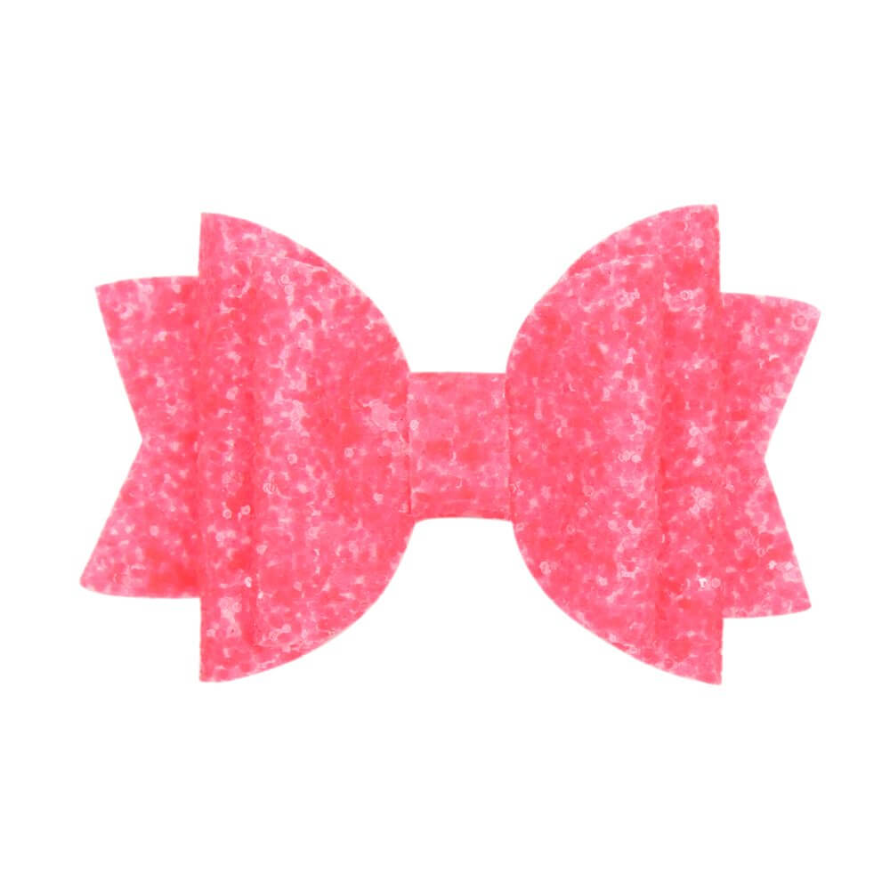 Boutique Glitter Hair Bows with Clips