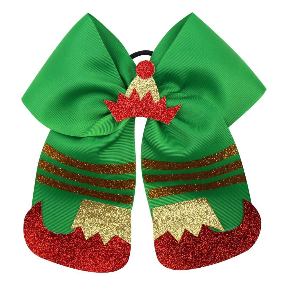 Glitter Shoes Christmas Cheer Bows