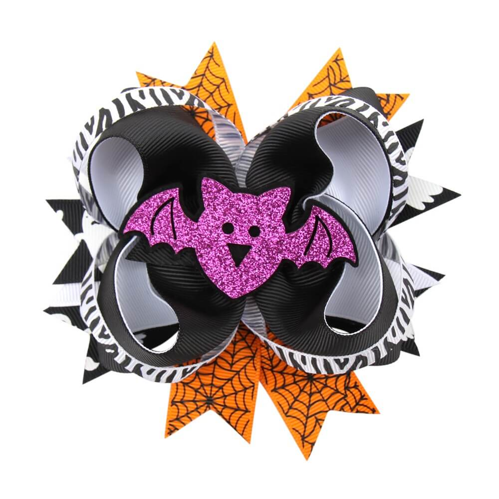 Halloween Multi-layer Ribbon Hair Bows