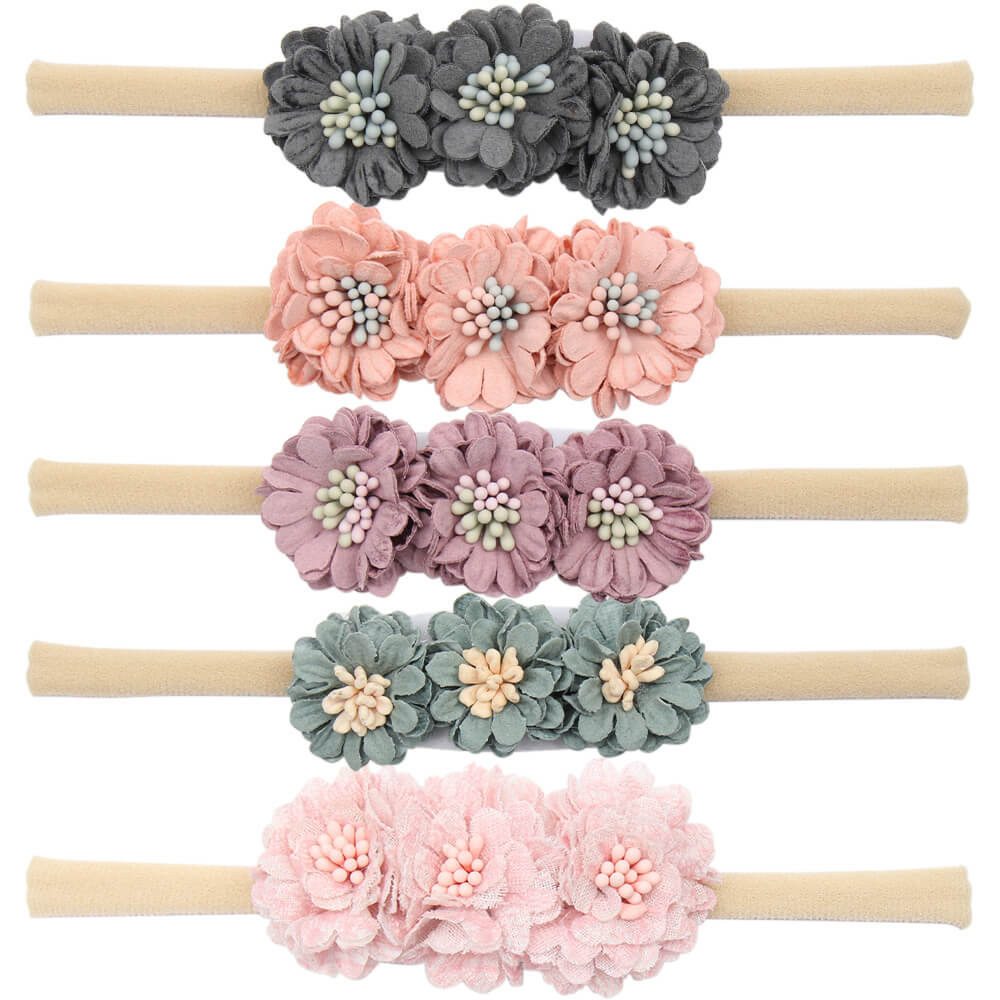 Mini Nylon Flower Baby Headband