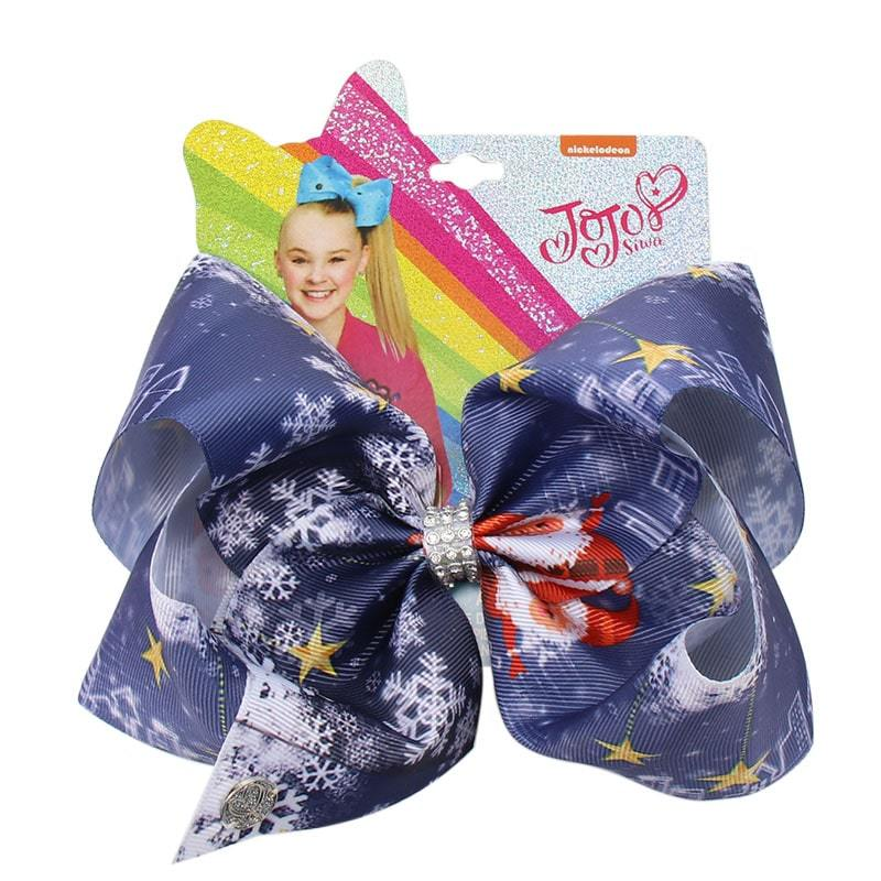 Christmas Printed Jumbo Jojo Hair Bows
