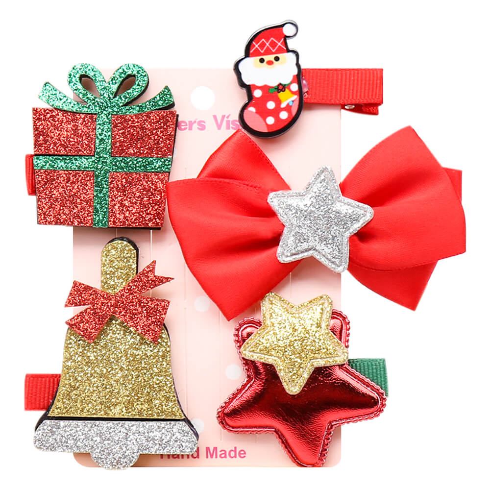 5 Pcs/pack Christmas Party Cute Hair Clips