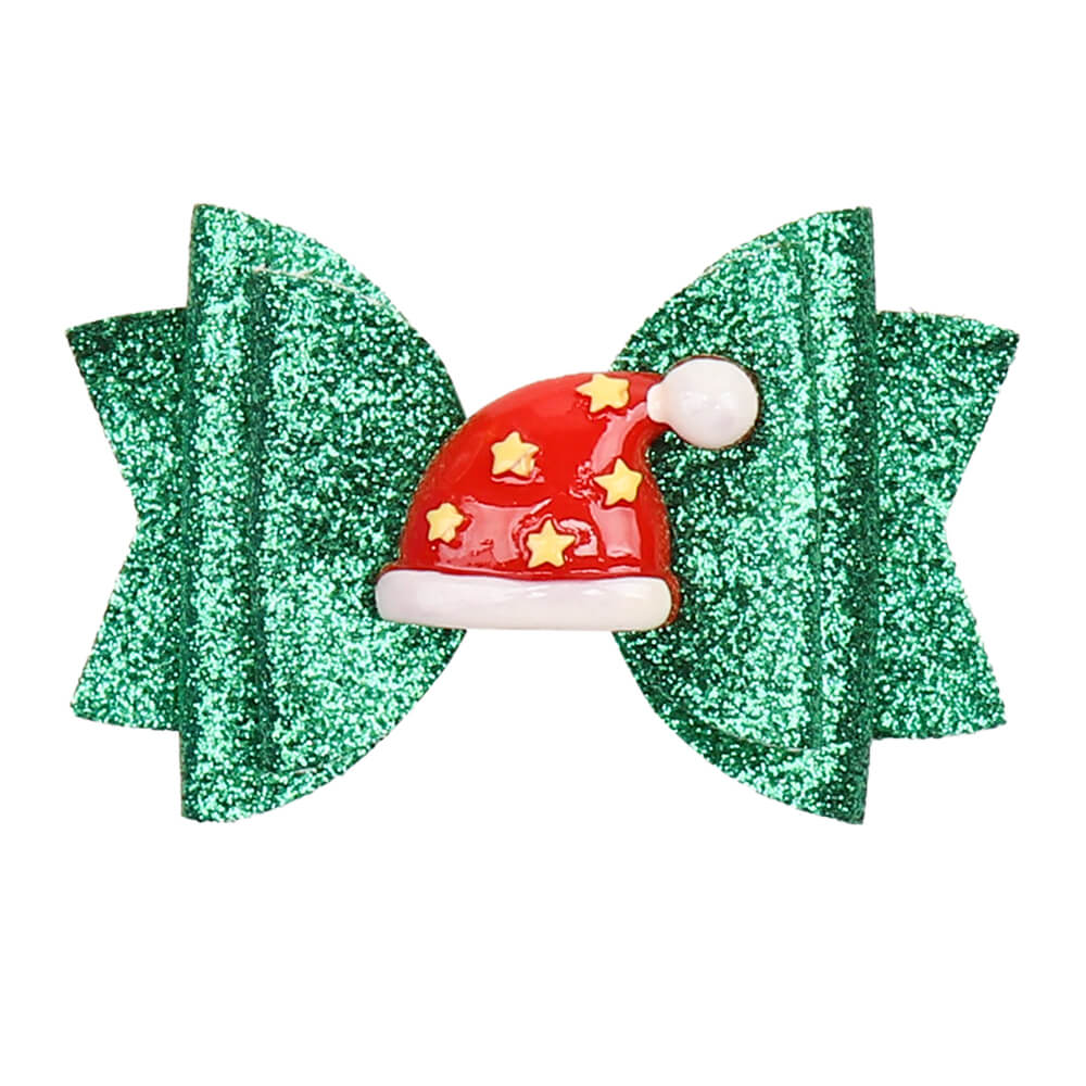 Christmas Glitter Hair Clips
