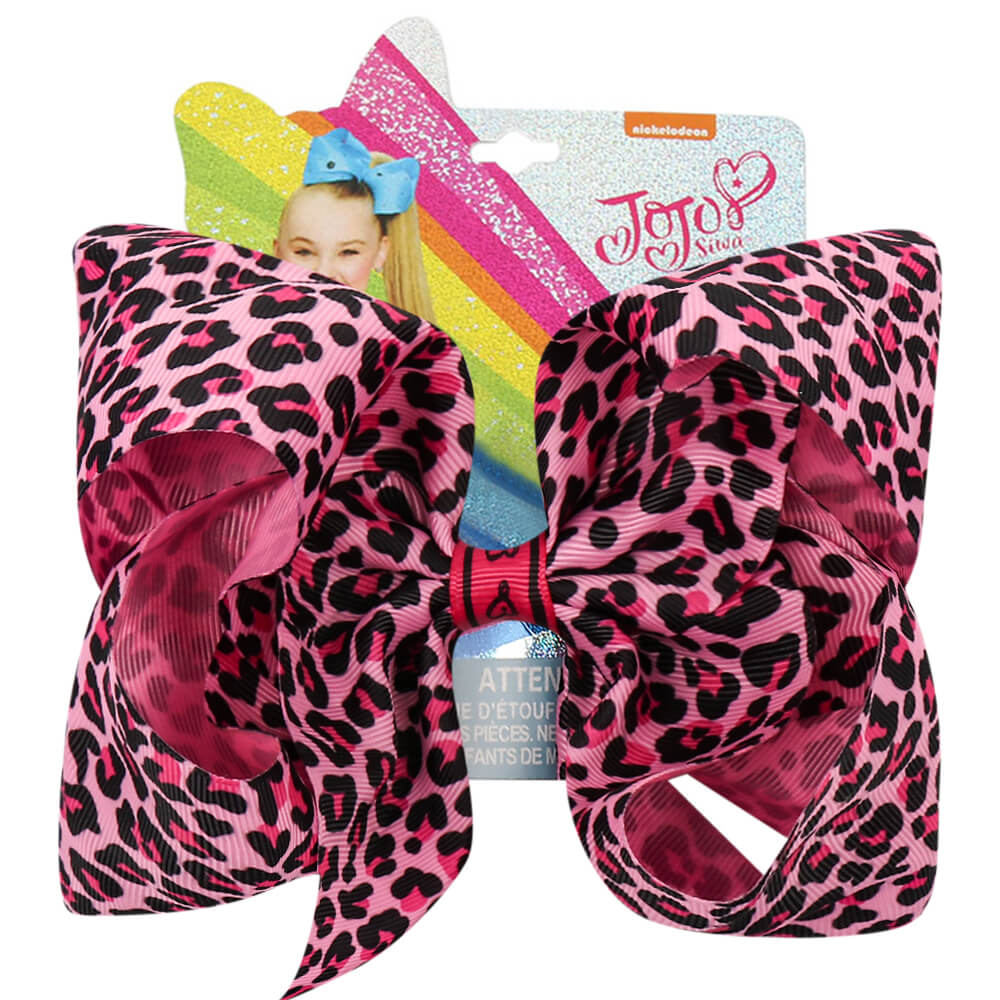 Large Pink Leopard Princess Jojo Bows