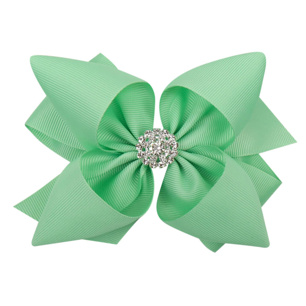 5'' Solid Stacked Rhinestone Hair Bows
