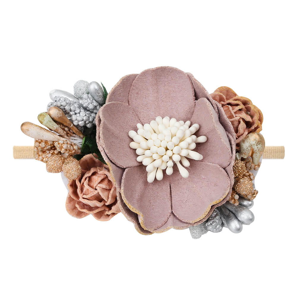 fake flower headband for baby