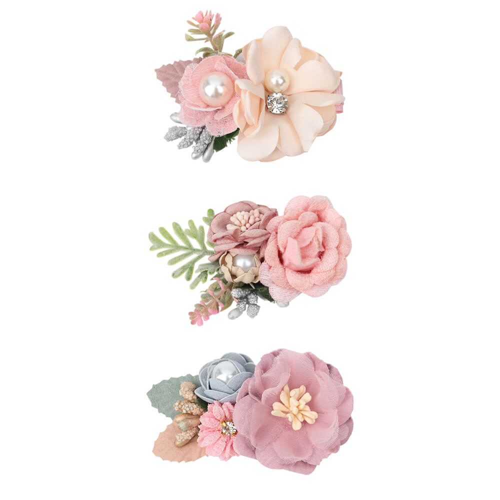artificial flower hair clips