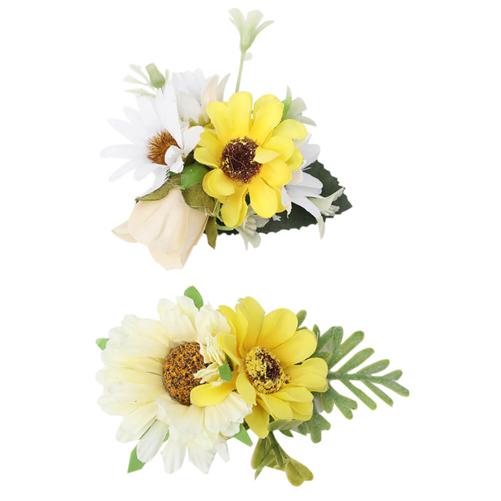 Sunflower Baby Girl Hair Clips