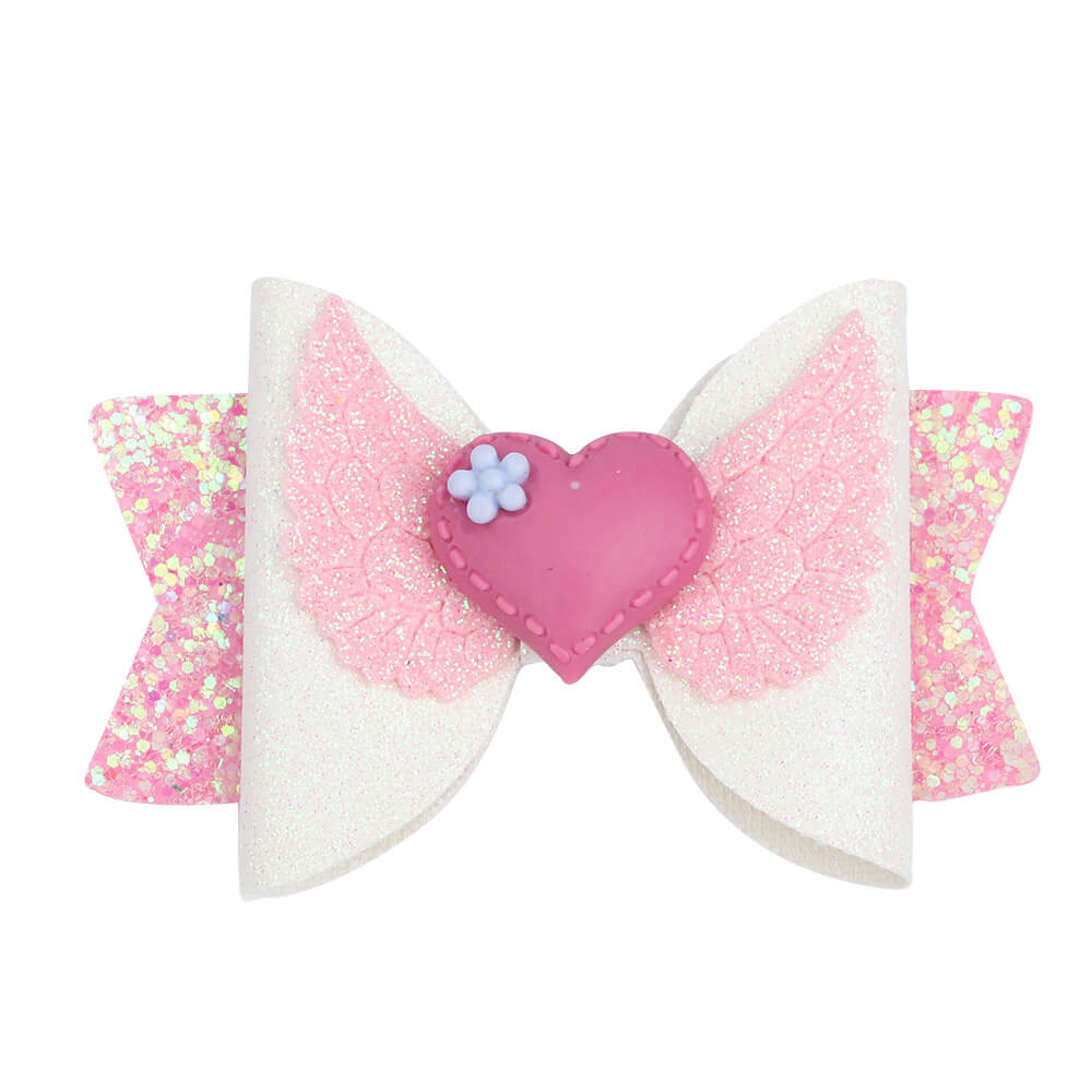 Pink hair bows for girls