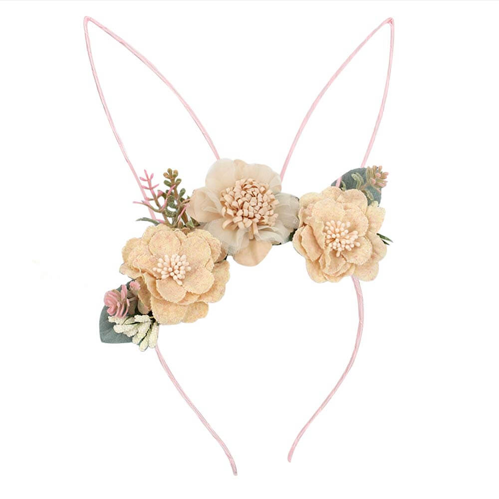 Bunny Flower Little Girl Headband