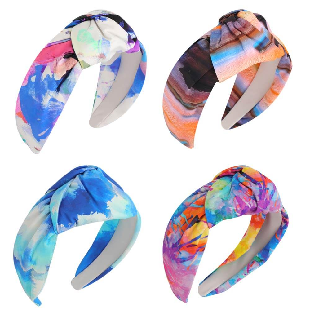 Tie-dye Knotted Wide Headbands