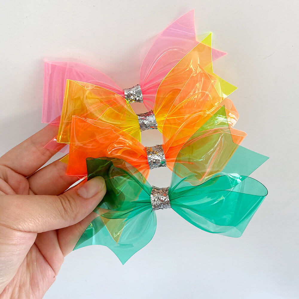 Transparent Jelly Hair Bows