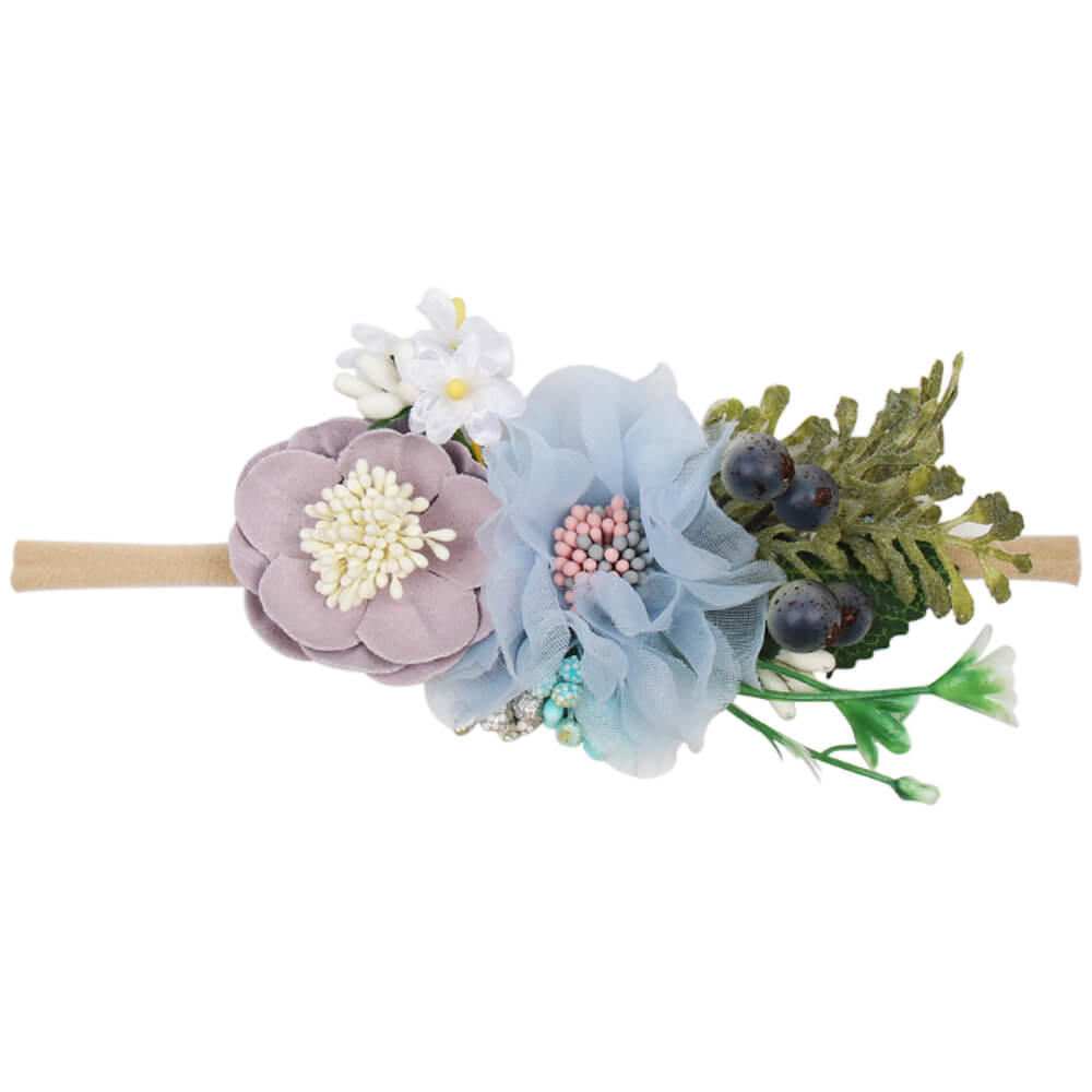 Newborn Sunflower Flower Nylon Headbands