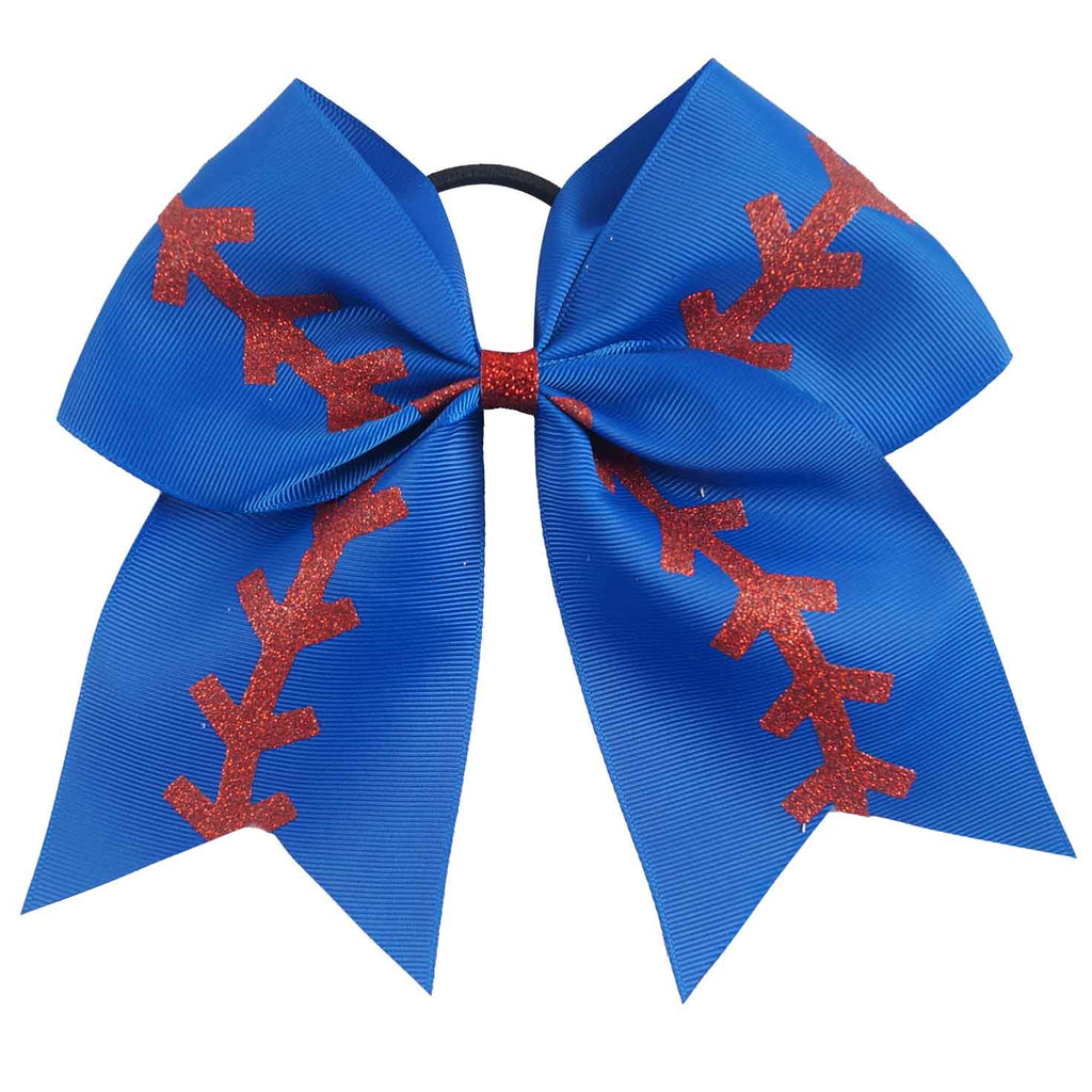 Softball Cheer Bows