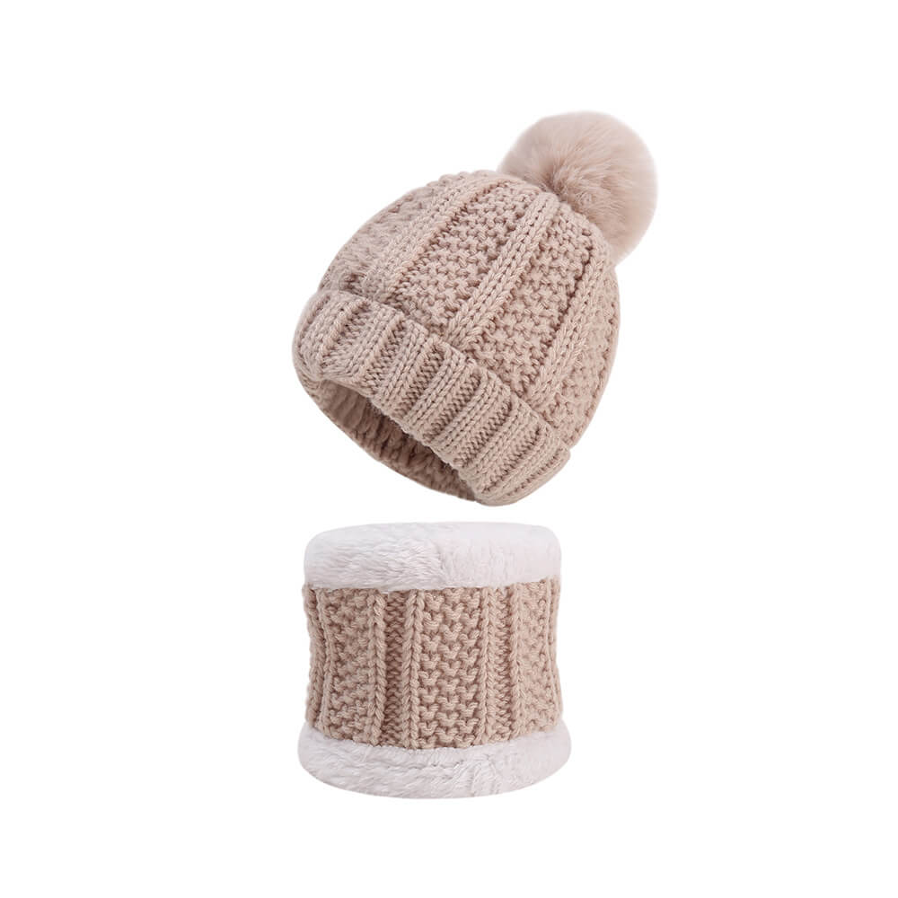 warm baby hat set