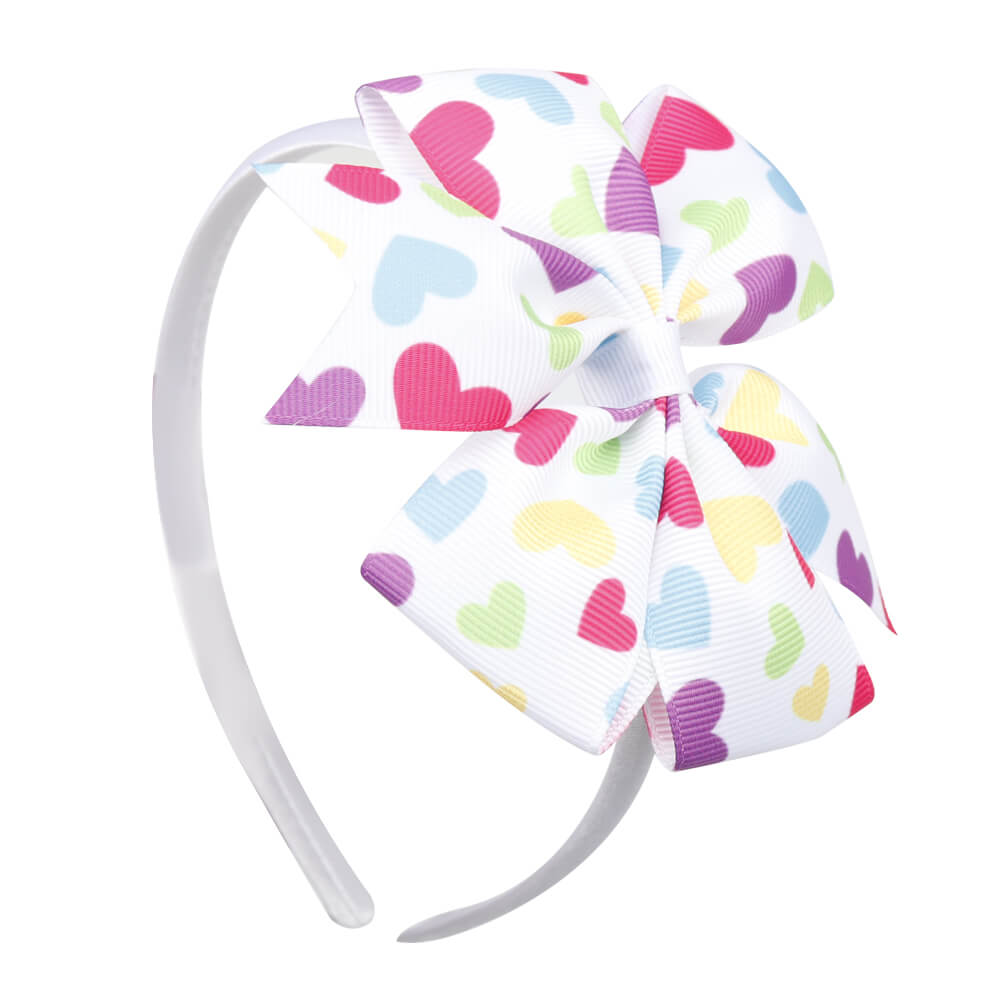 Love Printed Hairband | Pink hairband