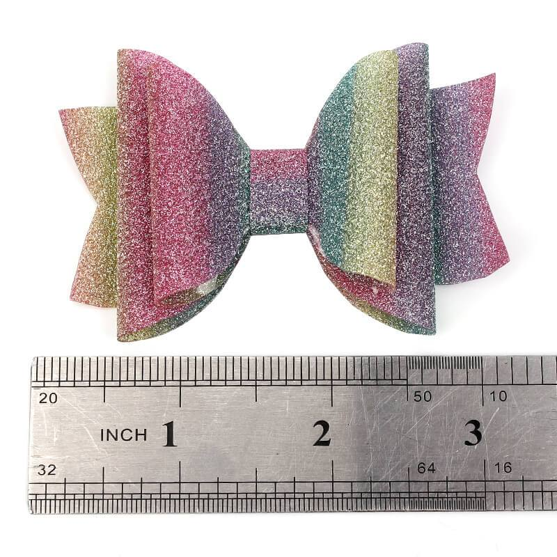 Cute Rainbow Glitter Hair Clip