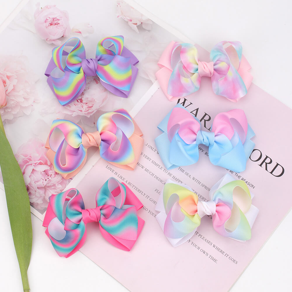 Gradient Grosgrain Hair Bows