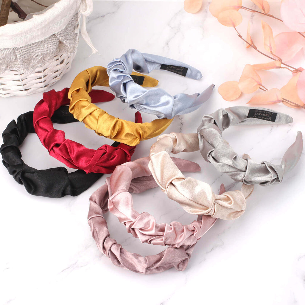 Satin Pleated Women Headband