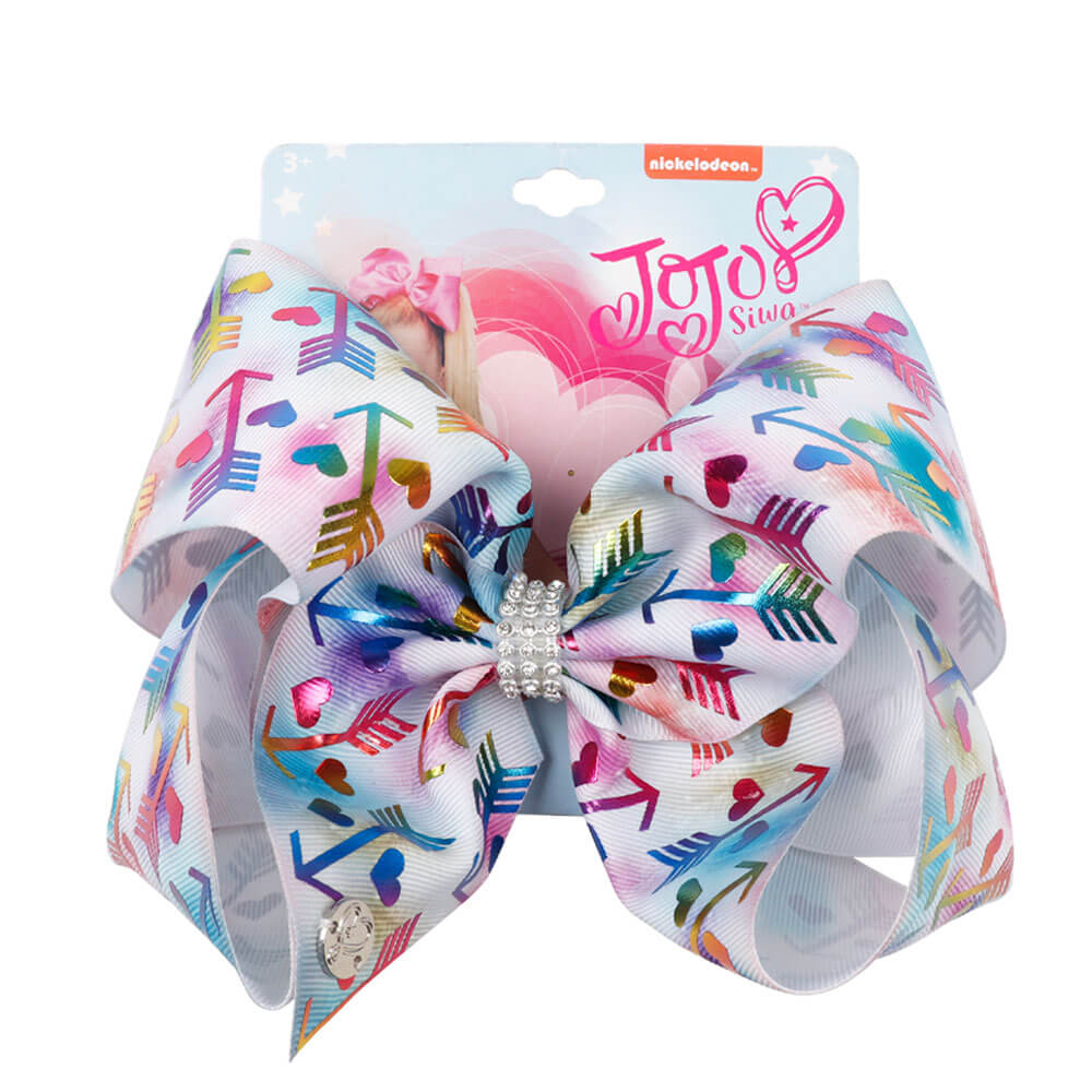 Bronzing Printing Oversized Hair Bows for Girls
