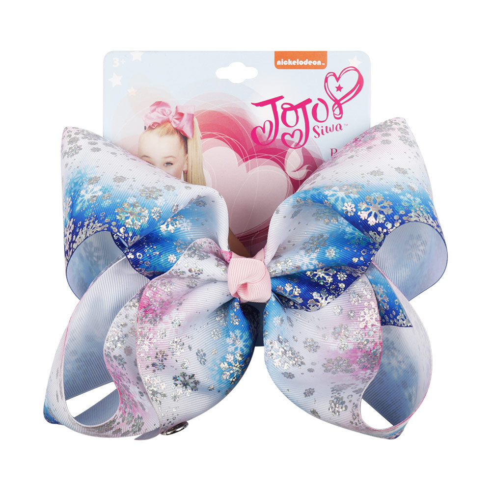 Christmas Snowflake Jojo Hair Bows