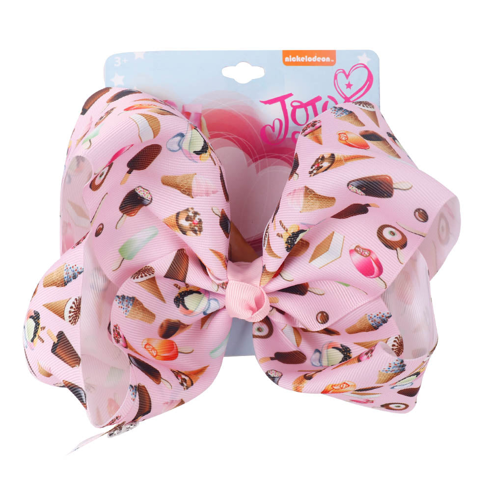 Flamingo Printed Jojo Hair Bows